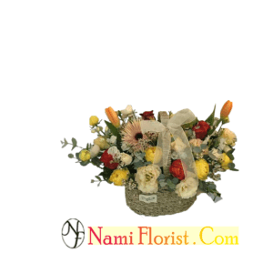 ARTIFICIAL BASKET BOUQUET – 02